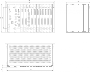 Overall and Installation Dimensions of PLC Regul R600