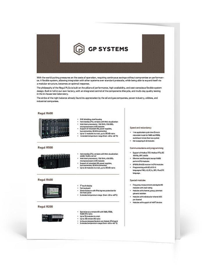 Regul Programmable logic controller brochure