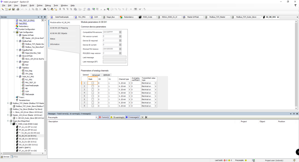 Epsilon LD - Regul PLC module editor