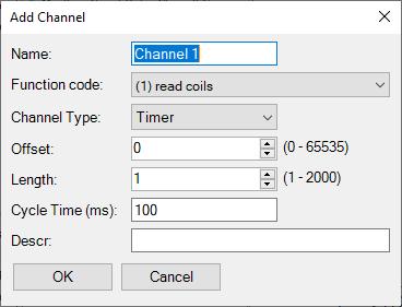Epsilon LD - Modbus channels
