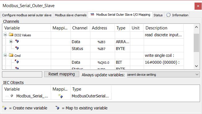 Epsilon LD - Modbus Outer slave I/O mapping