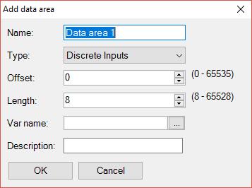 Epsilon LD - Modbus data areas