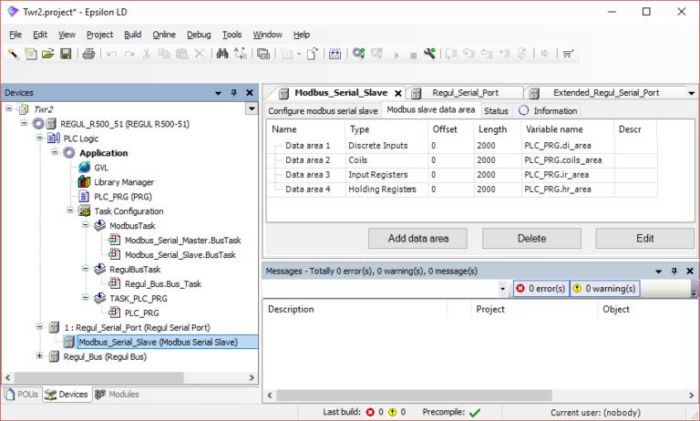 Epsilon LD - Modbus registers