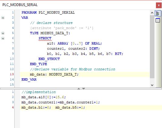 Epsilon LD - Modbus communication code